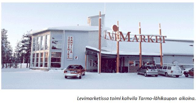 Levimarketissa toimi kahvila Tarmo-lähikaupan aikana